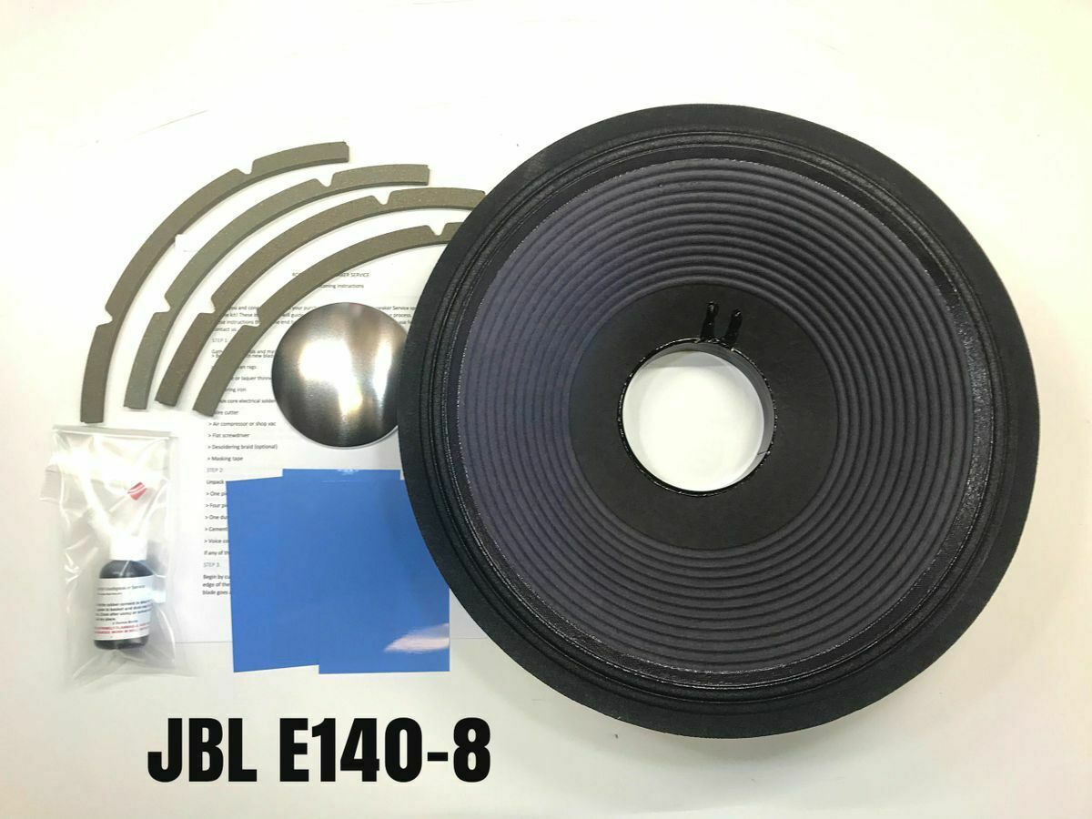 JBL E140-8, K140-8, D140-8, Reproduction Drop In Recone Kit- 8 Ohms