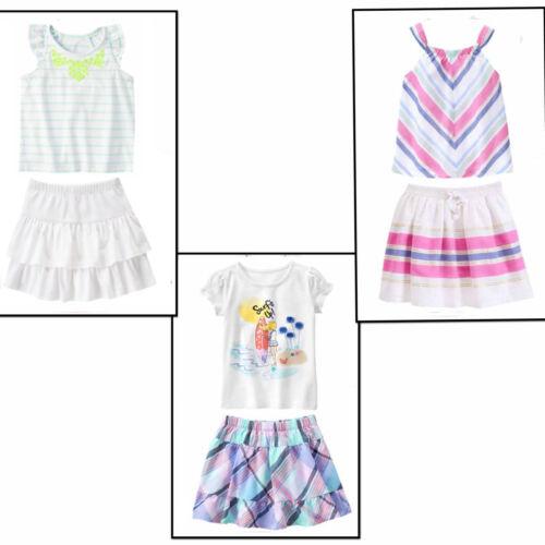 Gymboree Top /& Skirt Set-Desert Dreams,Tropical Breeze,Blue Safari NWT 4 6 10