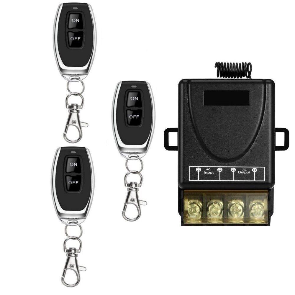 3x Funk Ein- Ausschalter 433Mhz Fernbedienung 230V AC Handsender Lichtschalter    Genialität