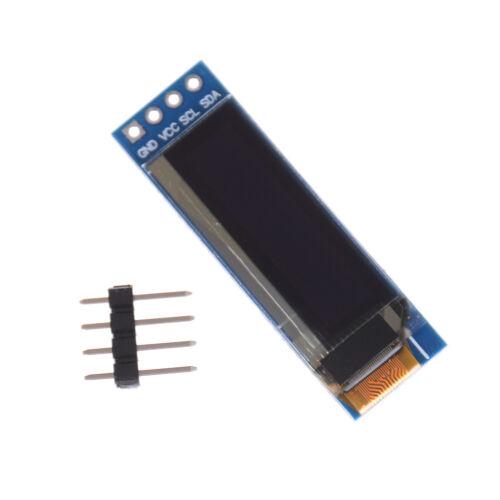 "IIC I2C 0.91/"" 128x32 white OLED LCD Display Module 3.3v 5v For Arduino PIC ZBDE"