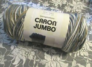 NEW-CARON-YARNSPIRATIONS-JUMBO-Country-Basket-Gray-Brown-Yarn-340-g-Acrylic