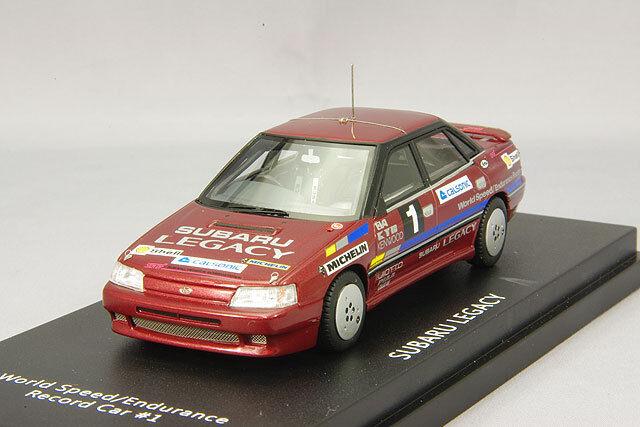 Enif 143 Subaru Legacy mundo Velocidad/Resistencia velocidad coche 1 rojo metálico de JPN