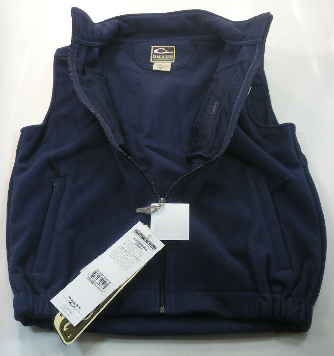 Drake Waterfowl DW1600-Nvy-4 Navy Fleece Layering Vest Xlarge 17620
