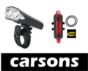 two mini front zoom alloy /& rear 5 led beam laser bike lights set kit MTB BMX
