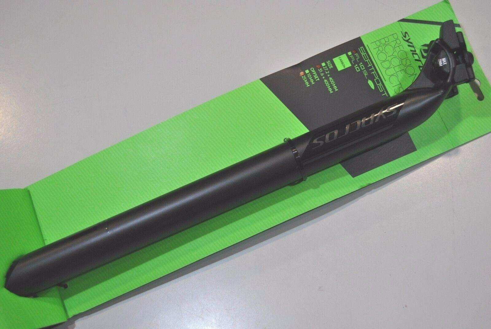Seatpost Syncros fl1.0 SL Carbon Matt sb25mm l400mm Seatpost Syncros fl1.0 SL