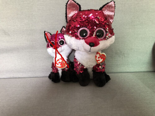 """New Ty Beanie Boos 10/"""" Sparkle The Special fox Plush Stuffed Toy Gift"""