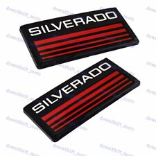 X2 New Cab Emblems 3d Badge Side Roof Pillar Decal Plate For Chevy Silverado Red
