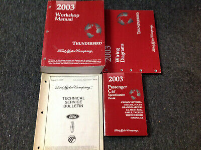 2003    FORD       THUNDERBIRD       Service       Repair    Shop Manual Set W