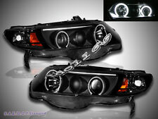 06 07 2008 Honda Civic Twin Halo CCFL Projector Headlights  2Door  NEW Black