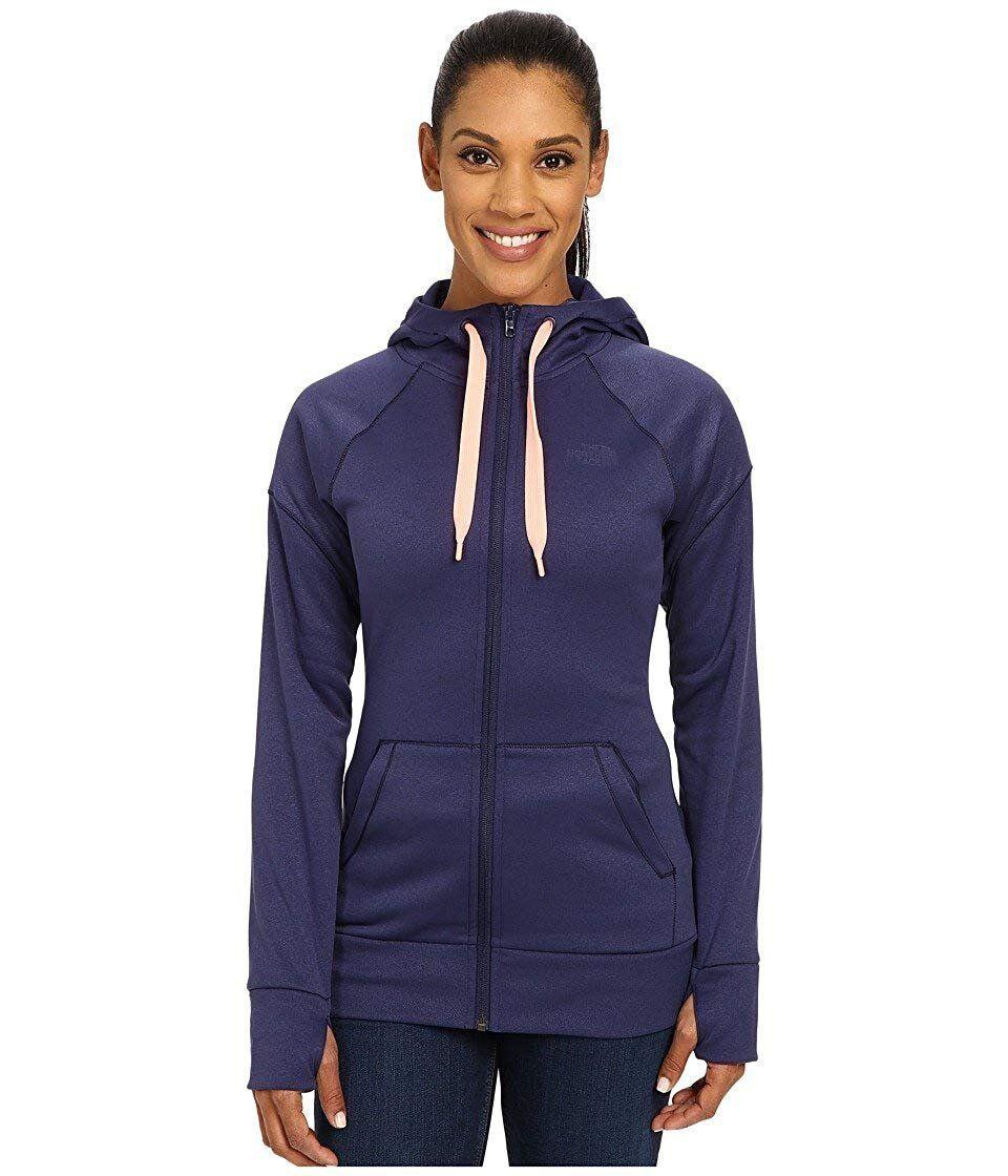 Women's The North Face Suprema Full Zip Drawstring Hoodie Patriot bluee XL