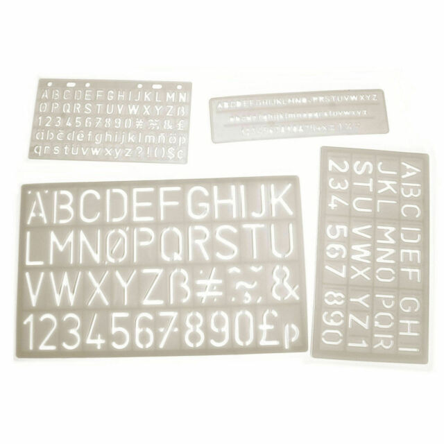 LETTERS AND NUMBERS STENCIL 170mm x 100mm