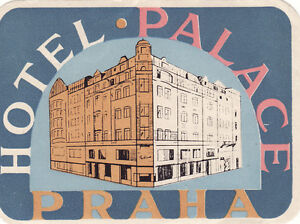 Vintage Luggage label Hotel Palace Praha Czechoslovakia - France - Vintage Luggage label Hotel Palace Praha Czechoslovakia On Feb-16-17 at 10:08:35 PST, seller added the following information: - France