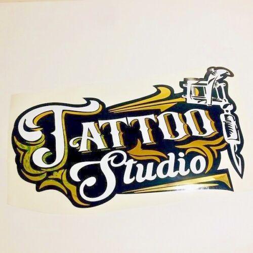 Fenêtre Autocollants Pour Tattoo Shop Studio Décalque Vinyle Art Publicité Retail