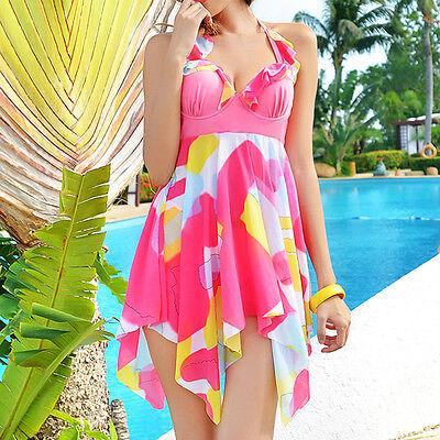 Ladies Swimwear Two Piece Swimdress Tankini Bather AU Size 6 8 10 12 14 16 01051