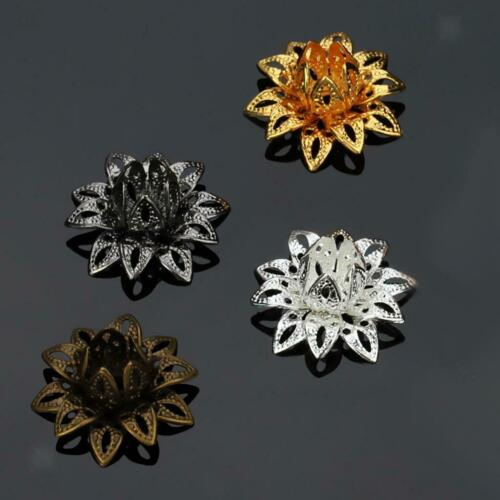 20 pcs Beautiful Bead 16mm Flower Bead Caps for Jewelry Making