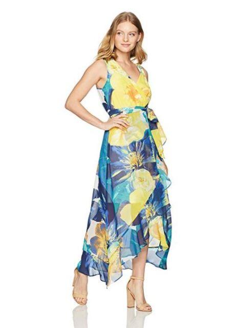 b0d4cb66d5a74 Sangria Women s Petite Dress Sleeveless Floral Pbwr1amr Multi Yellow ...