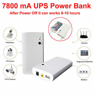 Details about Uninterrupt Power Supply UPS 12V 7800mAh Battery For CCTV  System Modem Computer