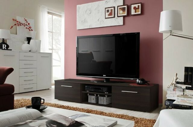 Soto 2 - wenge small tv stand / tv console / tv unit / tv media stand