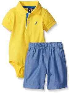 e4505fb4e Image is loading Nautica-Baby-Boys-039-2-Piece-Bodysuit-Short-