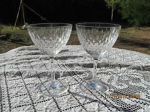 "2 CRYSTAL BACCARAT PARIS (CUT) WATER GOBLETS or wine glasses 6 1/4"" x 3 3/4""""d"