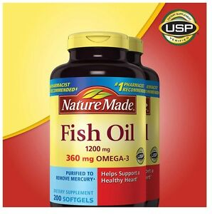 Nature made fish oil 1200 mg epa dha omega 3 400ct for Nature made fish oil review