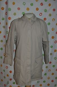 Euc Car Beige Liner Cream London 8 Zip Donna ha Out Coat Fog qTUwtwB