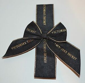 Image Is Loading Victoria 039 S Secret Black Gold Bow Gift
