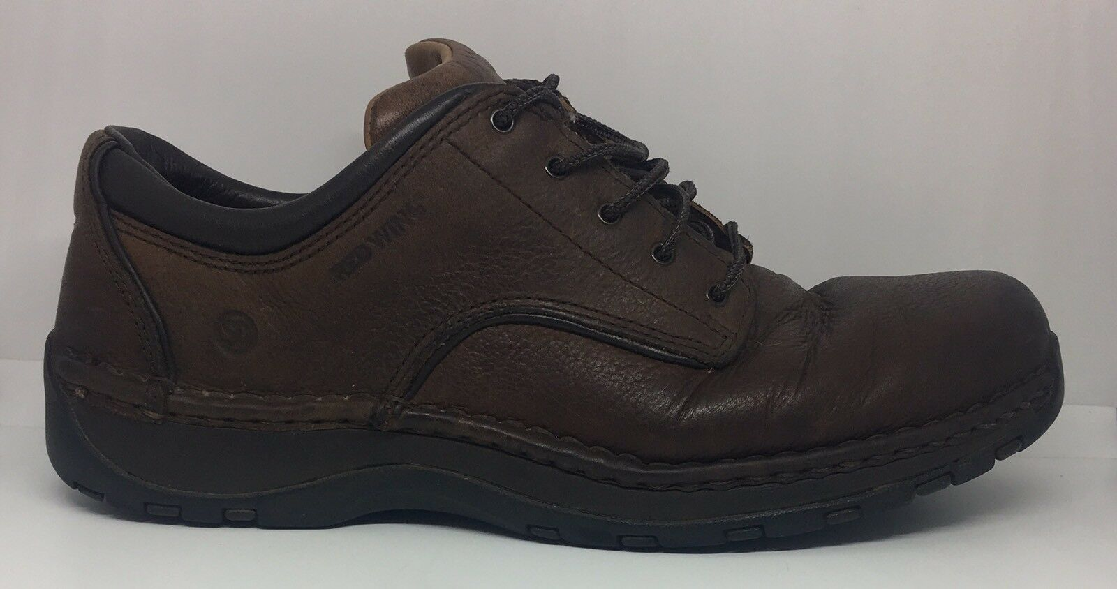 Red Wing Uomo Brown Pelle Work Safety Shoe Oxford Aluminum Toe #6704 Sz 10.5 D