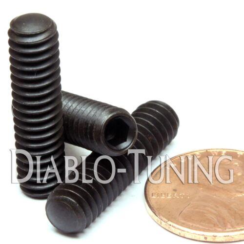 "OVAL Point Socket SET 1//4-20 x 1/"" Qty 10 GRUB SCREWS  Black Alloy Steel"