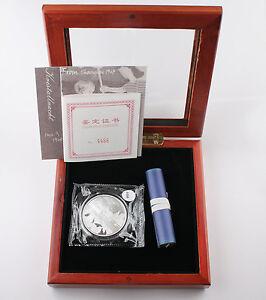 2013-China-Shanghai-Ghetto-Speicher-PANDA-juedischen-1-OZ-SILBER-PROOF-Medaille-mit-Box-COA