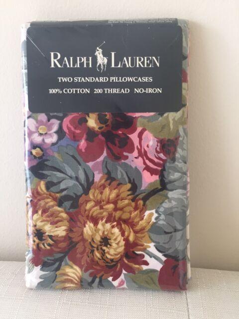 NEW RARE Ralph Lauren Allison Pillowcases ~ Shabby Cottage Chic ~ Pretty