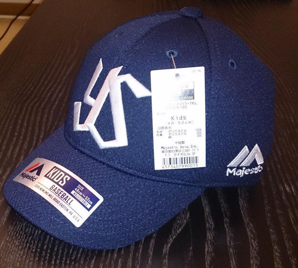 YAKULT SWALLOWS CAP CAP CAP Kids Medium (48-52cm) Original Majestic Japan Baseball e85886