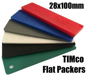 Details about TIMco 100mm x 28mm Plastic Flat Packers Shims Frame Window  Glazing Flooring