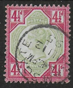 SG206-Jubilee-4-amp-1-2d-With-Superb-Ramsgate-Thimble-Cancel-Cat-45-Ref-0-118