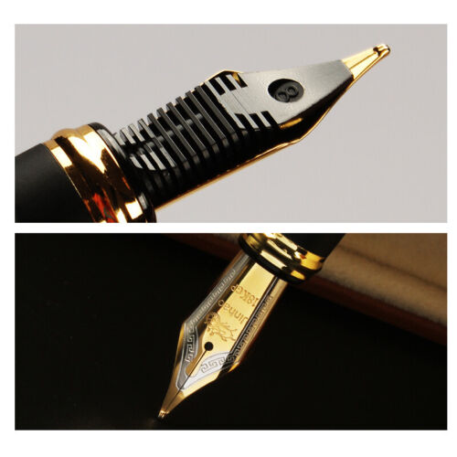 Jinhao X450 Black with Fireworks Fountain Pen Broad Nib 18KGP Golden Trim Nib
