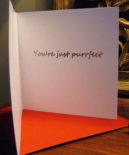 Siamese Cat art Valentines or birthday card original design by Suzanne Le Good