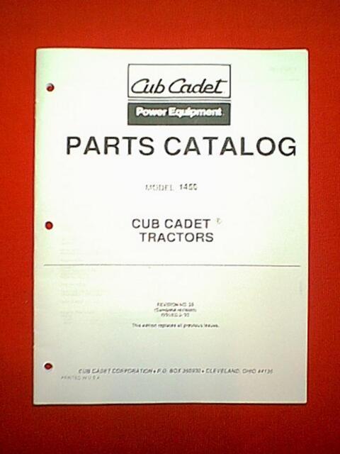 Ih Cub Cadet Tractor Model 1450 Parts Manual