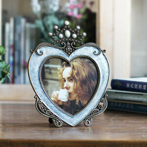 Photo-Frame-Heart-Shaped-Classic-Family-Picture-Wedding-Metal-Frame