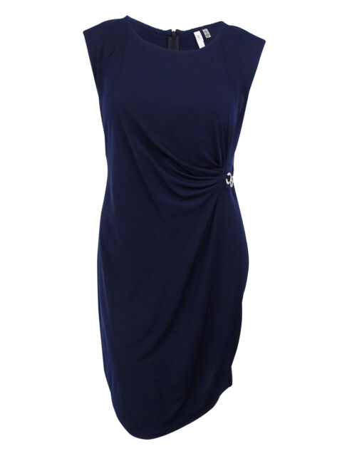 afb6f68239f NY Collection Plus Size Dress 3x Sleeveless B Slim Navy Blue 2nd for ...
