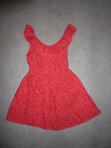 Robe-sans-manche-fluide-rouge-fantaisie-In-Extenso-4-ans