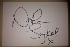 NATHAN SYKES SIGNED 6X4 WHITE CARD MUSIC AUTOGRAPH THE WANTED