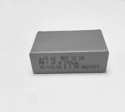 x 5 Condensateur 100NF 275V AC X2 MKP pas 10mm