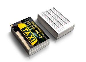 Details Zu 500 1 000 Visitenkarten Taxi Drucken Mit Kalender 2 Seitig Farbig Offsetdruck