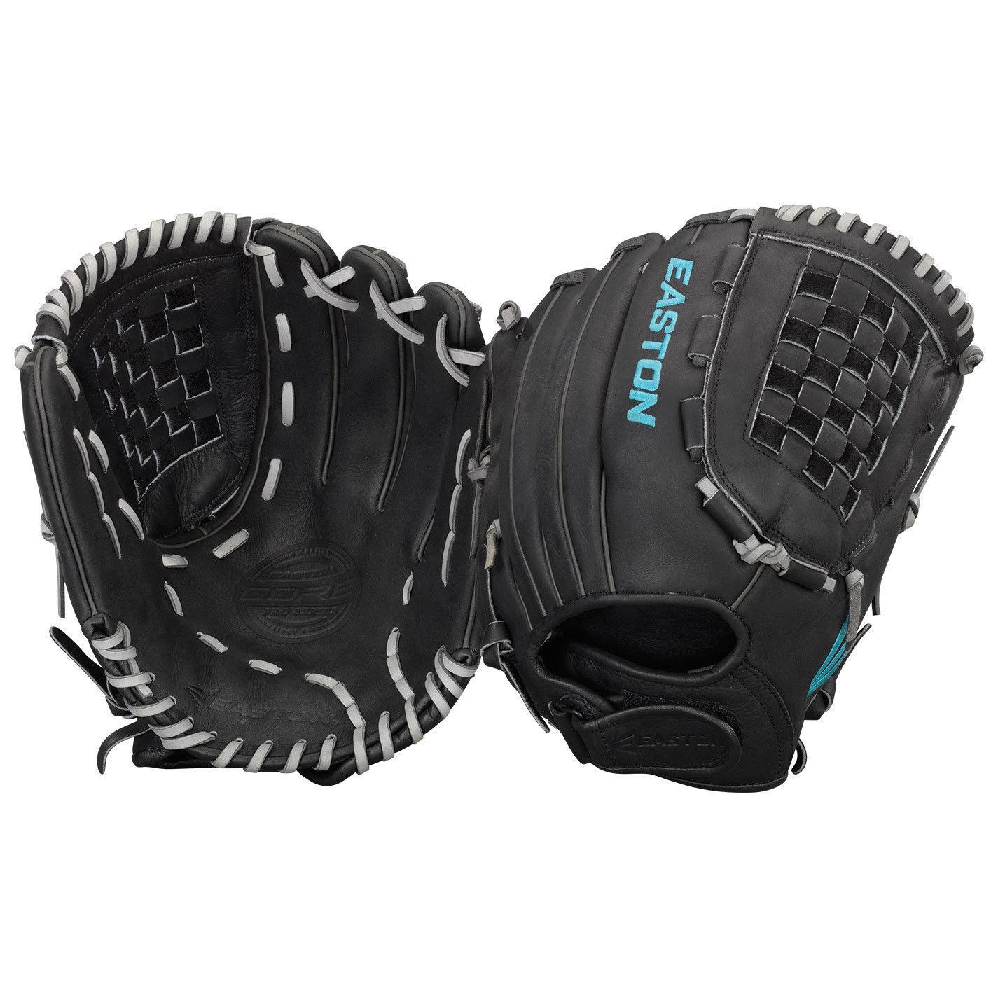 Easton Core Pro 12.5  Fastpitch Softball guante izquierdo tirar corefp 1250 BKGY LHT Nuevo