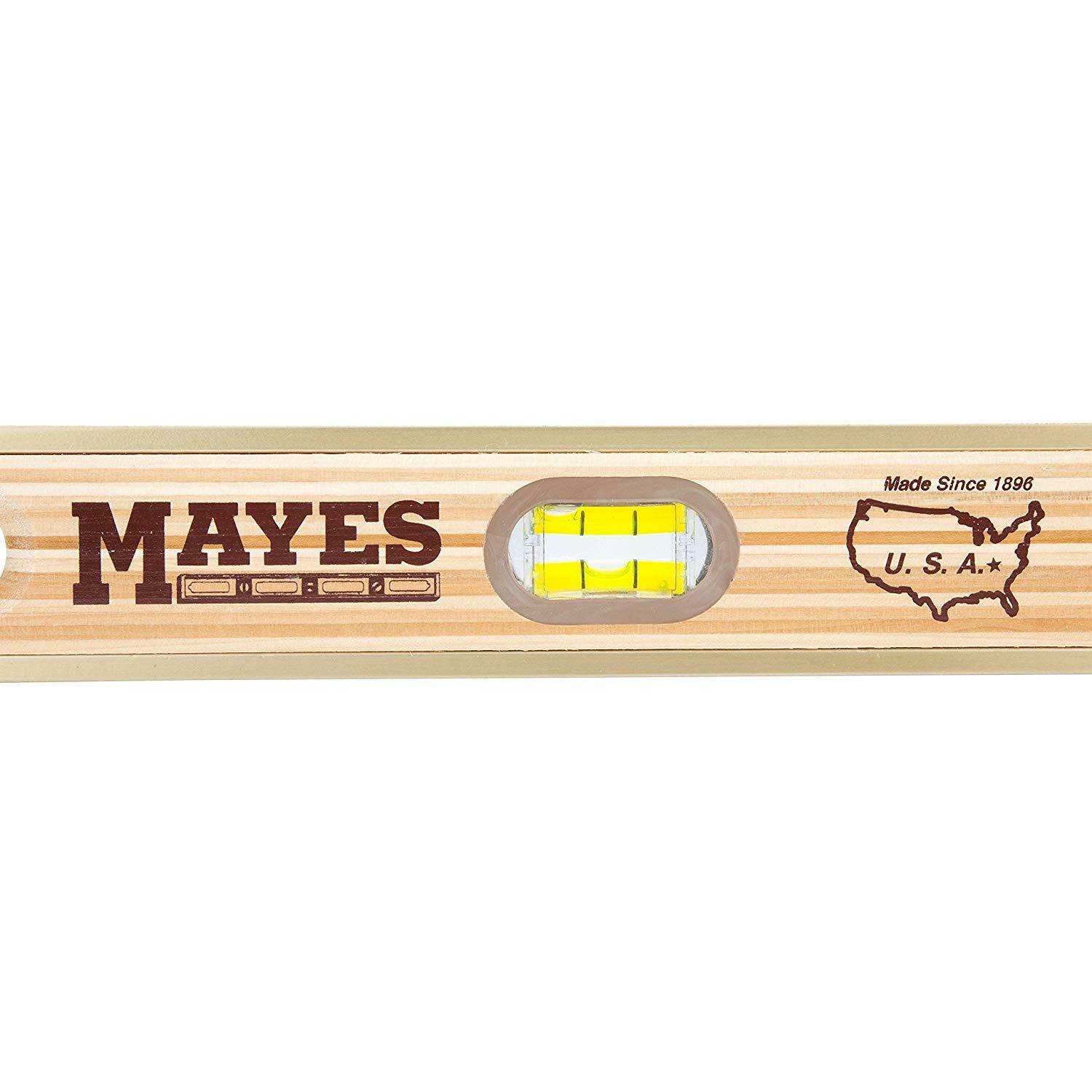 Mayes 48-Inch Laminated Wood Level Crafted Laminated layers American Hardwood