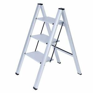 Phenomenal Details About 3 Steps Safety Ladder Steel Folding Step Stool Lightweight Portable Step Ladder Ncnpc Chair Design For Home Ncnpcorg