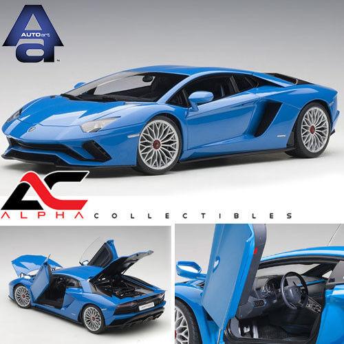 AUTOART 79134 1 18 LAMBORGHINI AVENTADOR S (BLU NILA PEARL blu)
