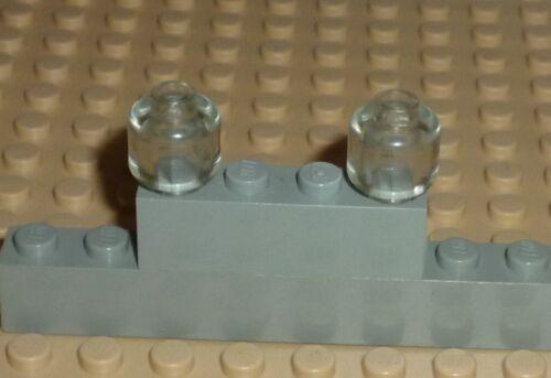 3626b Plain LEGO HD5 TRANS CLEAR x 2 Minifig - Blocked Open Stud Head