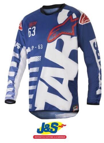 Alpinestars Racer Braap Jersey 723 Blue White Red Motocross MX Moto-X Shirt J/&S