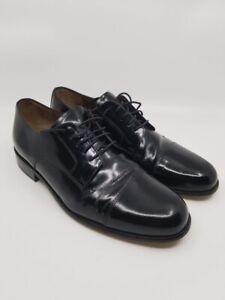 BOSTONIAN-MENS-DRESS-SHOES-Akron-Black-Leather-Lace-Up-Oxfords-Size-11-5-M